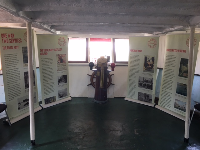 Gateways Maritime Exhibition displayed on TS Colne Lightship, Colchester