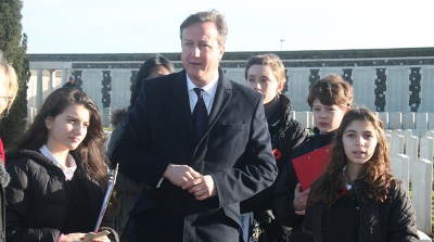 David Cameron in Passchendaele