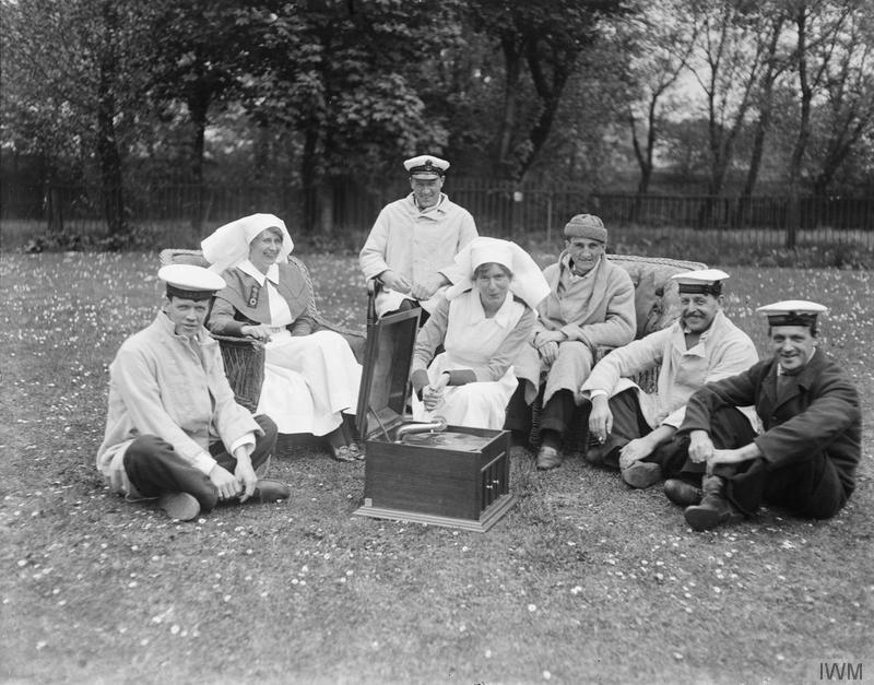 Nurses and patients at the Royal Naval Hospital, Granton