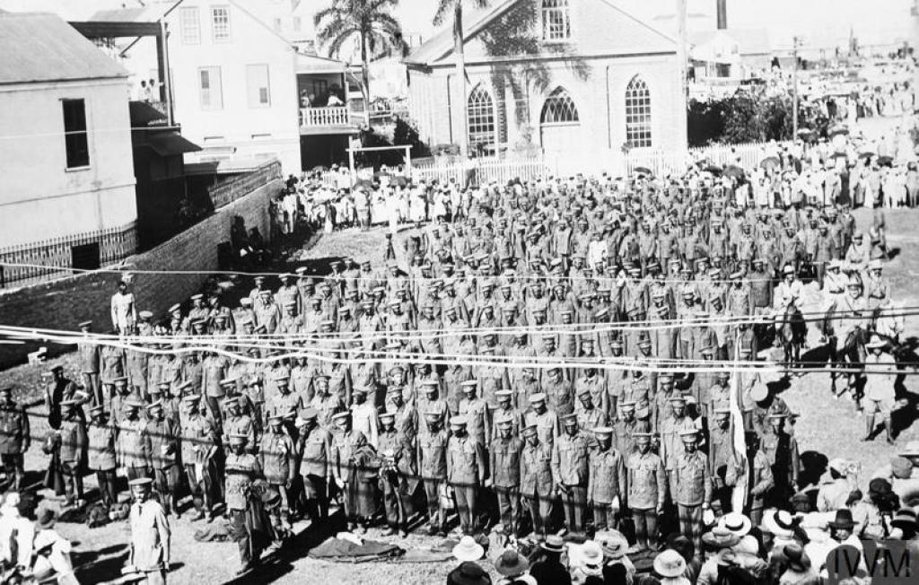 Recruits in Jamaica 1916 © IWM (Q 52423)