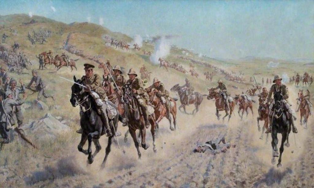 James Prinsep Beadle, 'The Action of the 6th Mounted Brigade (The Bucks, Berks and Dorset Yeomanry) at El Mughar' (1922)