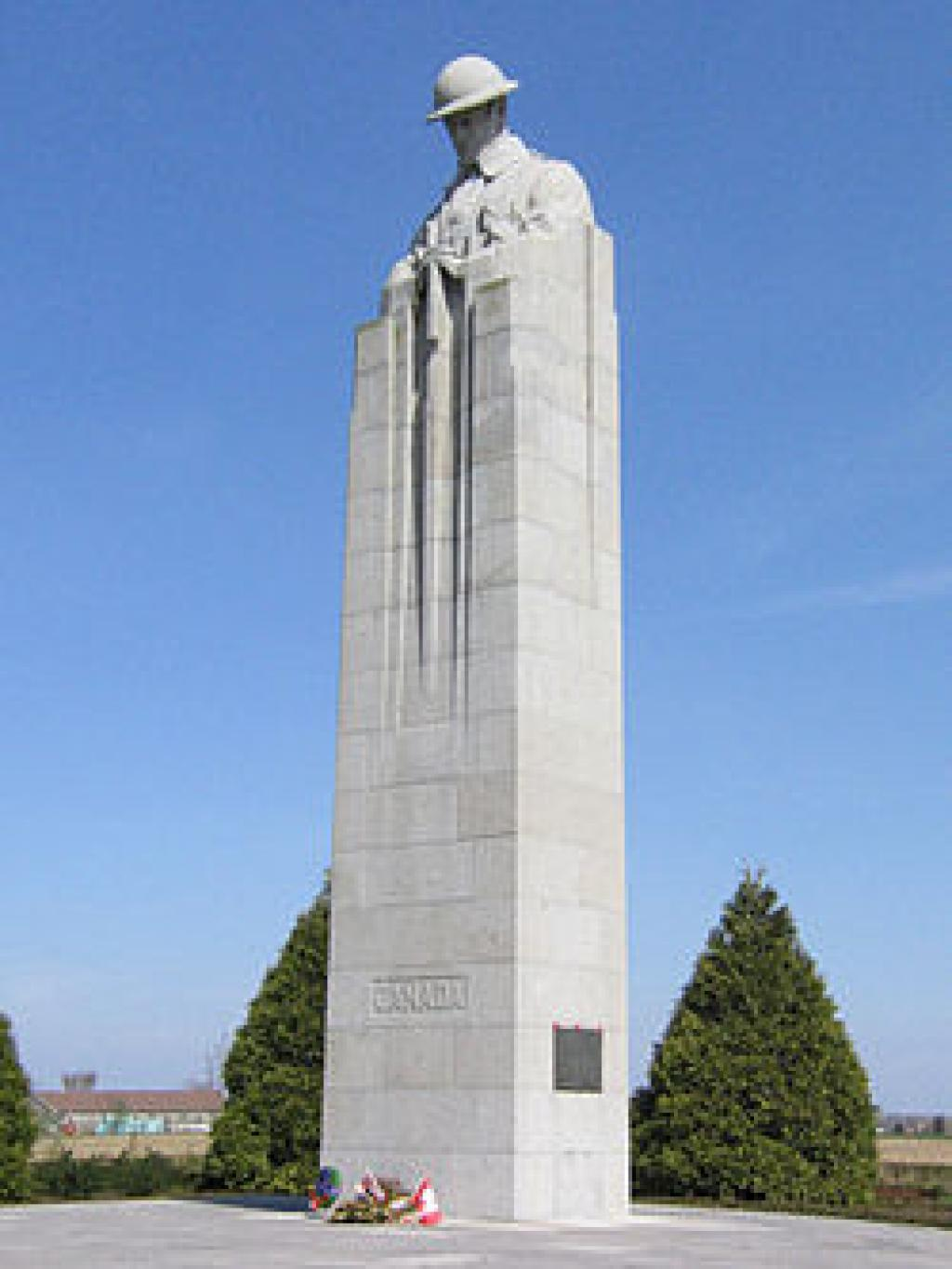 The Brooding Soldier War Memorial at St Julien