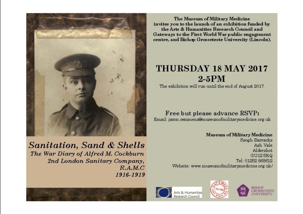 Event Launch Flyer including photo of Alfred M. Cockburn