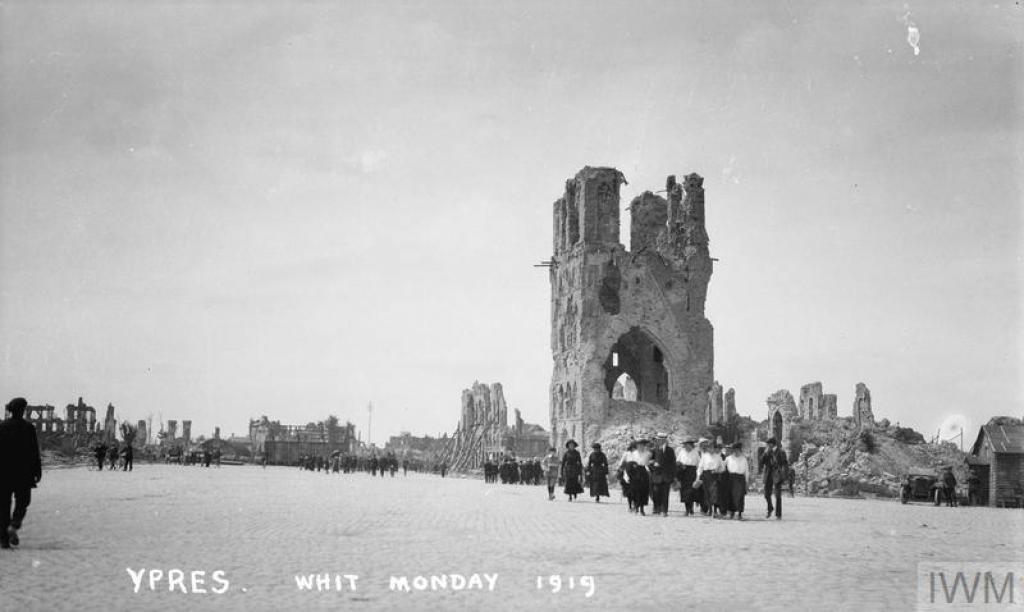Tourists in Ypres, Whit Monday, 1919. © Jeremy Gordon-Smith