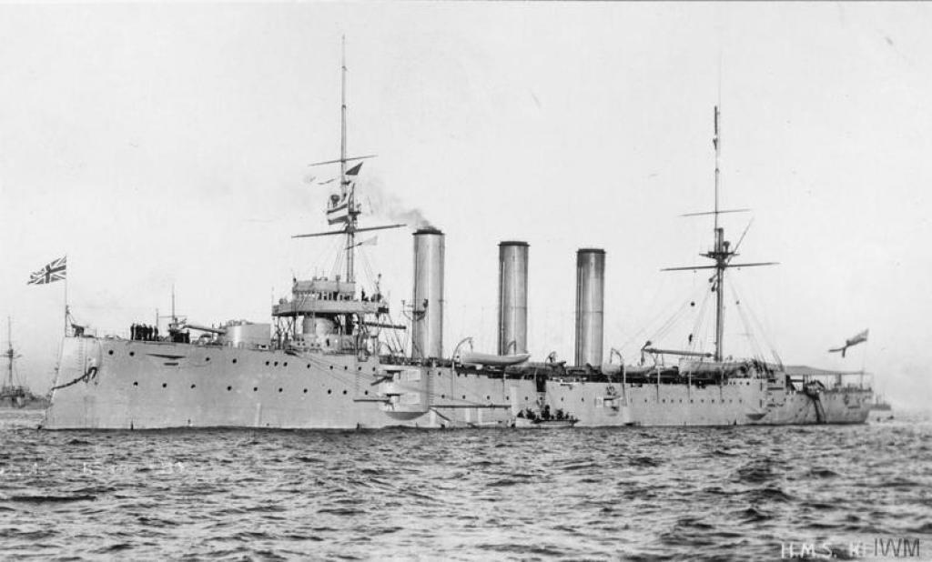 Armoured cruiser HMS Kent.