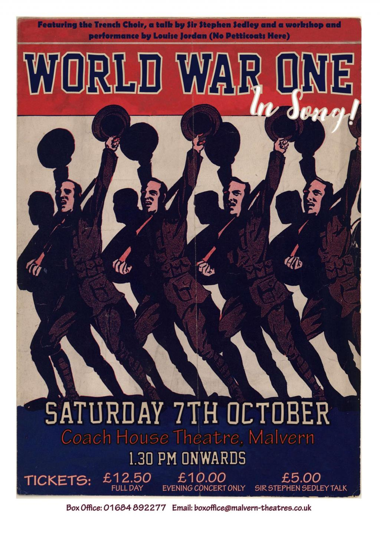 WW1 in Song flier