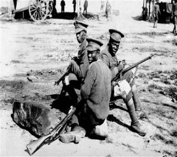 African Soldiers WW1