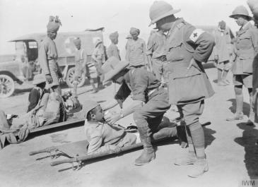 Ottoman wounded after Tikrit 1917 Copyright: IWM Q 24439