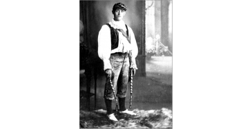 Ellis Dyson, Leader of the Colne Royal Morris Dancers, c. 1913-14. Reproduced with permission of Georgina Boyes.