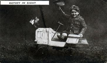 A British patriotic postcard captioned 'Victory in sight',