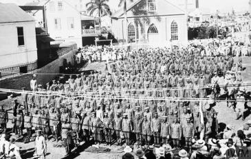 Recruits in Jamaica 1916 © IWM (Q 52423).