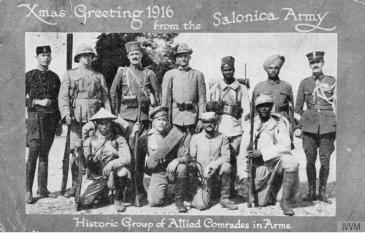 Salonika Allied Comrades in Arms © IWM (Q 67857)