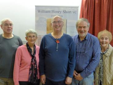 Relatives of William Short at the film launch on 22 November.