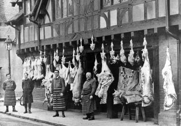 Dalton & Sons - Butchers in Arundel High Street c.1920. Image reproduced with permission of Arundel Museum.